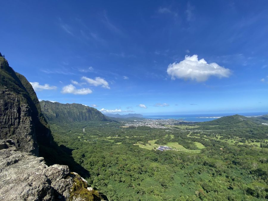The beautiful views of the Ko'olau mountains and the magical Windward side