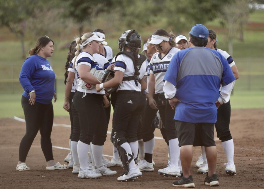 The Chaminade women's softball team took the field against intra-city rival HPU on Saturday at Howard Okita Field in Kaneohe.