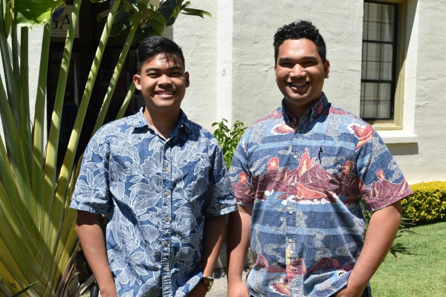 Andrew Ancheta (left) and Edward-James Adachi (right) first got to know each other through Campus Ministry's Awakening Retreat in 2017.