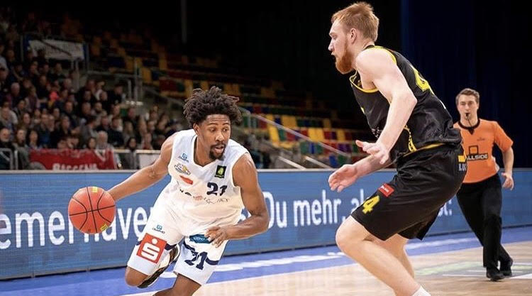 Rohndell Goodwin playing in Germany Pro A (photo credit SP Photo)