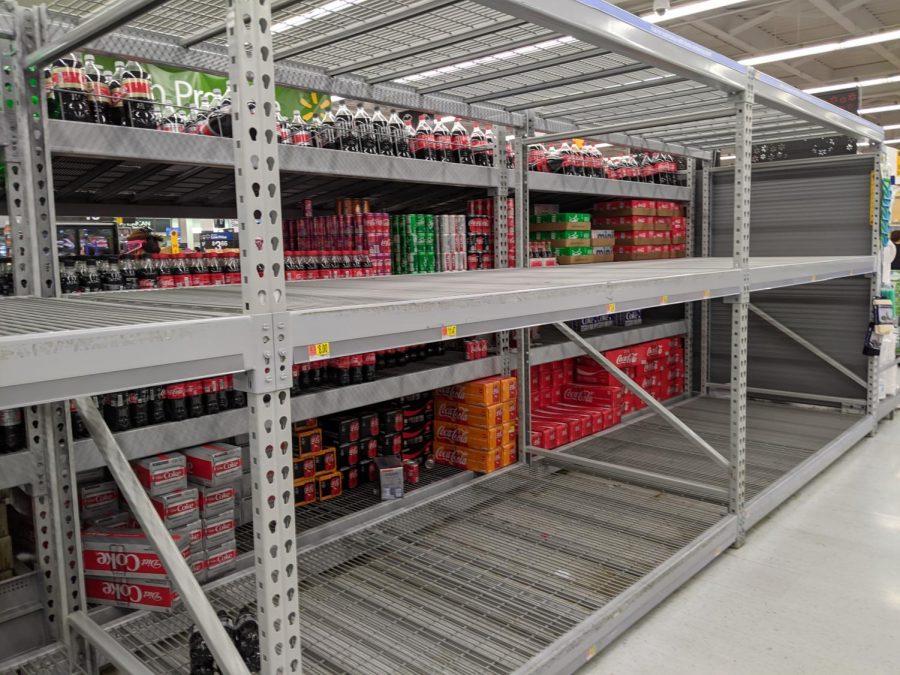 Walmart toilet paper aisle (Photo by Kim Baxter)