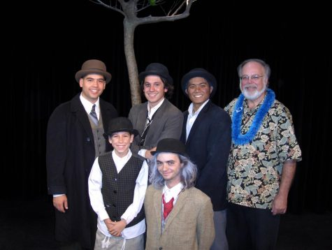 Bro. Gary Morris, Cedric Jonathan, and Blaze Mancillas (right to left) with the cast of CUH