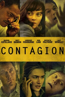 """Contagion"" (2011) starred Jude Law, Matt Damon, Laurence Fishburne, Gwyneth Paltrow, Kate Winslet, and Marion Cotillard."