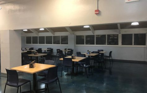 The empty Silversword Café after the switch to a distance-learning format.