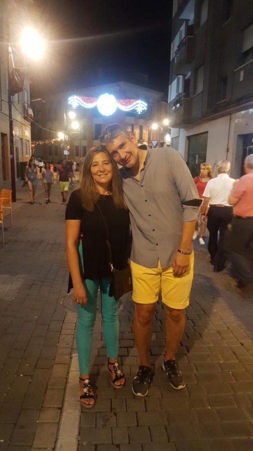 Loli and Pedro Fernadez on a date in Madrid, Spain.
