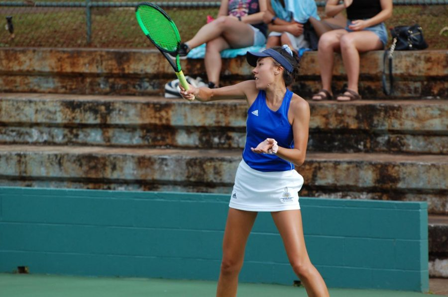 Catrina Liner of the womans tennis team is ambitious to get back on the court with her teammates, however will take advantage of the free time if the season is called off.