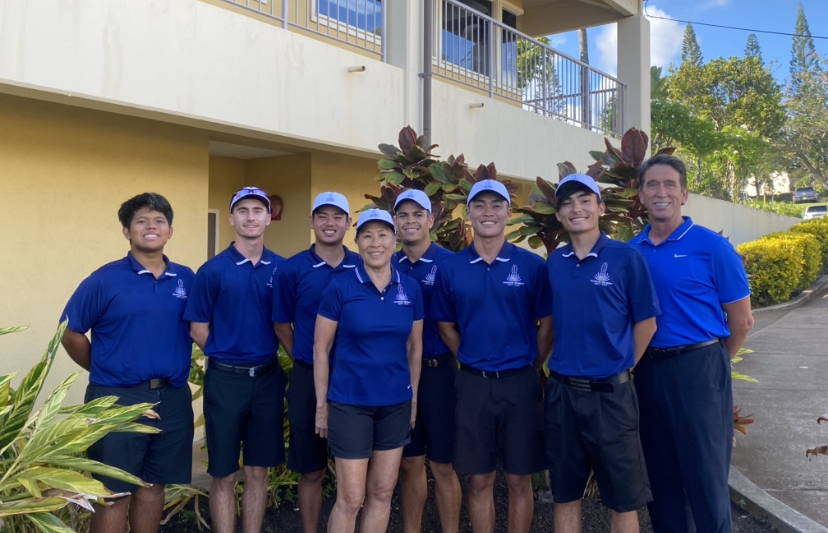 CUH men's golf team tied   with HPU at their last tournament of the season.