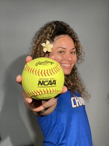 CUH Softball athlete Malia Moisa portrait photos for upcoming season.